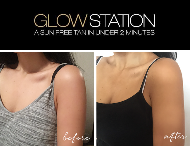 Glowstation tan, Mystic tanning booth, dark