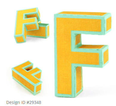 Today we have a yet another great tutorial by Christy. This time she is sharing how to put together the 3D Letter F Box file #29348