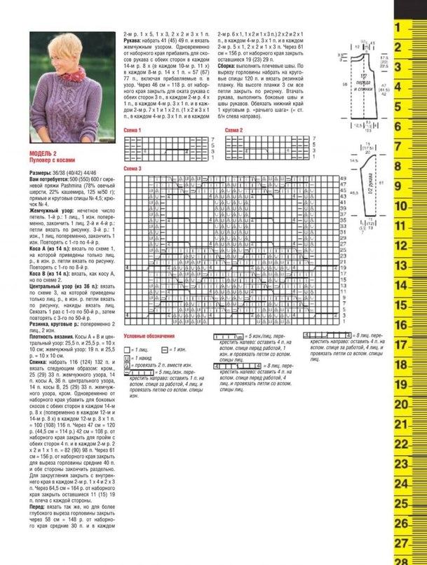 Модели из журналов по вязанию со схемами и описанием
