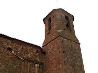 El campanar del segle XVIII de Sant Martí del Brull