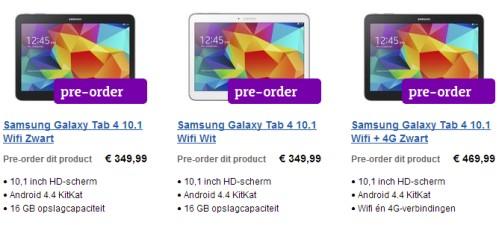 Svelati i primi prezzi in prevendita per i Galaxy Tab 4 di Samsung