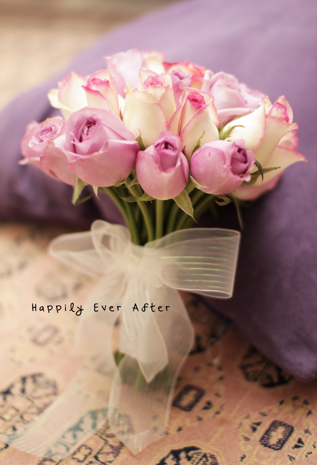 Happily ever after soft purple pink and cream solemnization hand soft purple pink and cream solemnization hand bouquet izmirmasajfo Choice Image