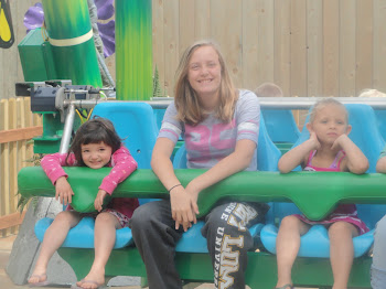 sarah, thanks for going on the kiddie rides with johanna!