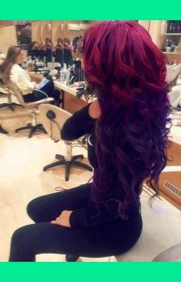 Violet red hair