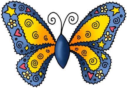 Mariposas de colores para imprimir-Imagenes y dibujos para imprimir