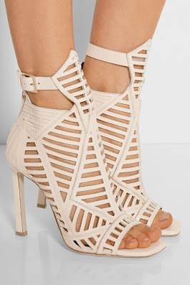 Daniele Michetti White Caged High Heeled Sandals