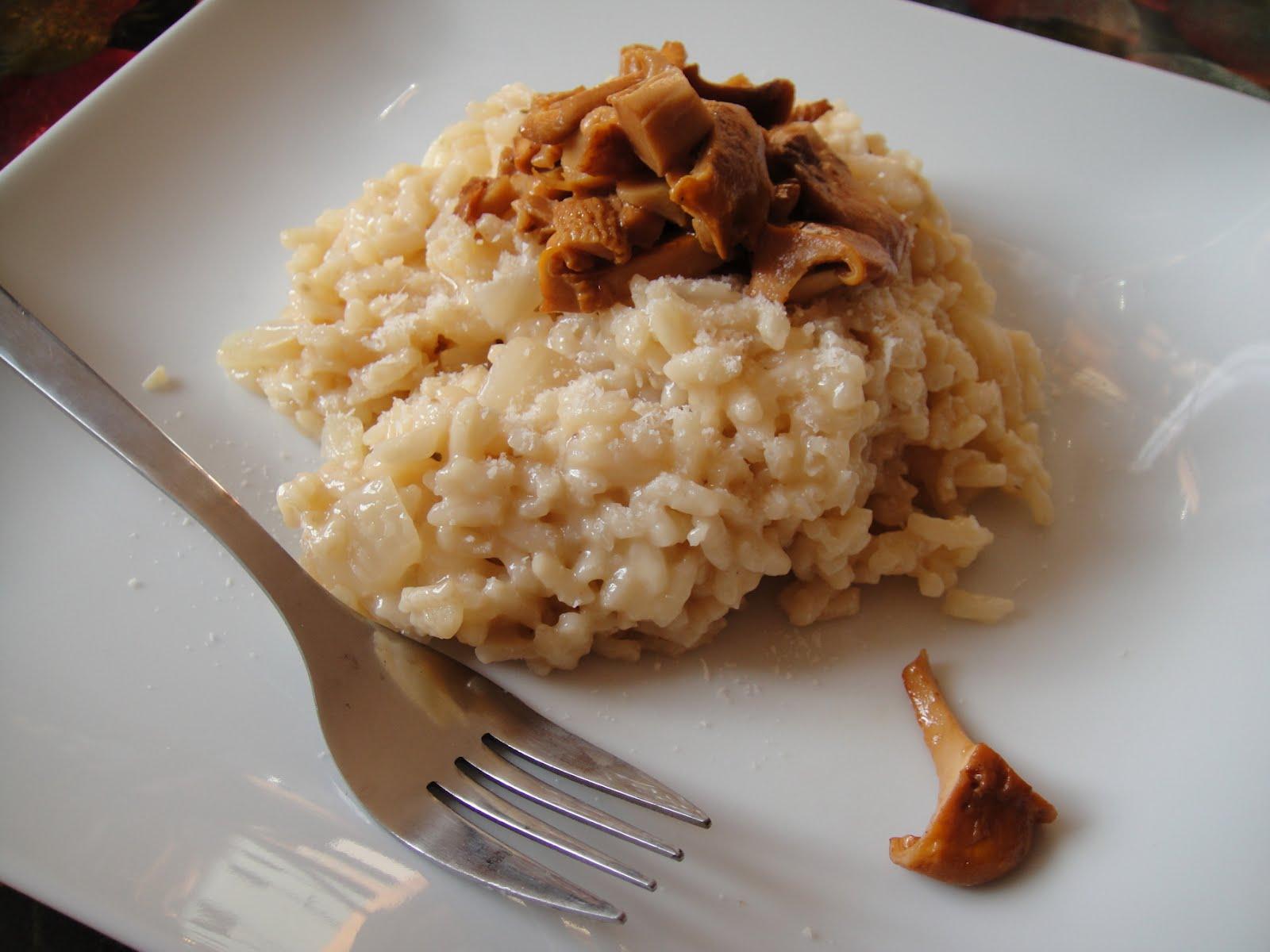 Tessons et macarons risotto aux girolles - Quelle quantite de riz par personne ...