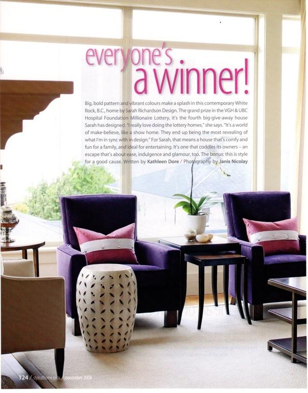 Design Maze: Sarah Richardson: Hilltop Contemporary Lottery Home