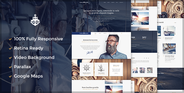 Jual Template Wordpress Yacht - Marine WordPress Theme
