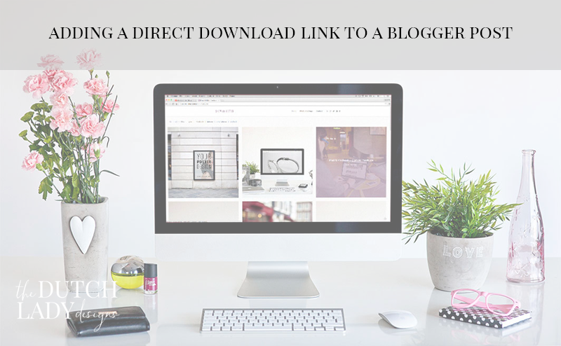 how to add links to blogger header