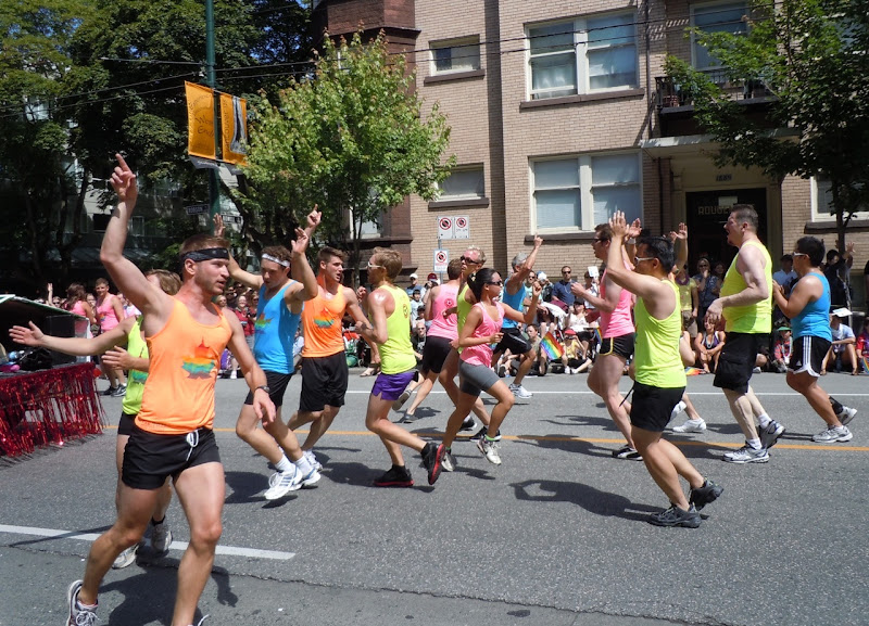 Vancouver Pride Parade dancers