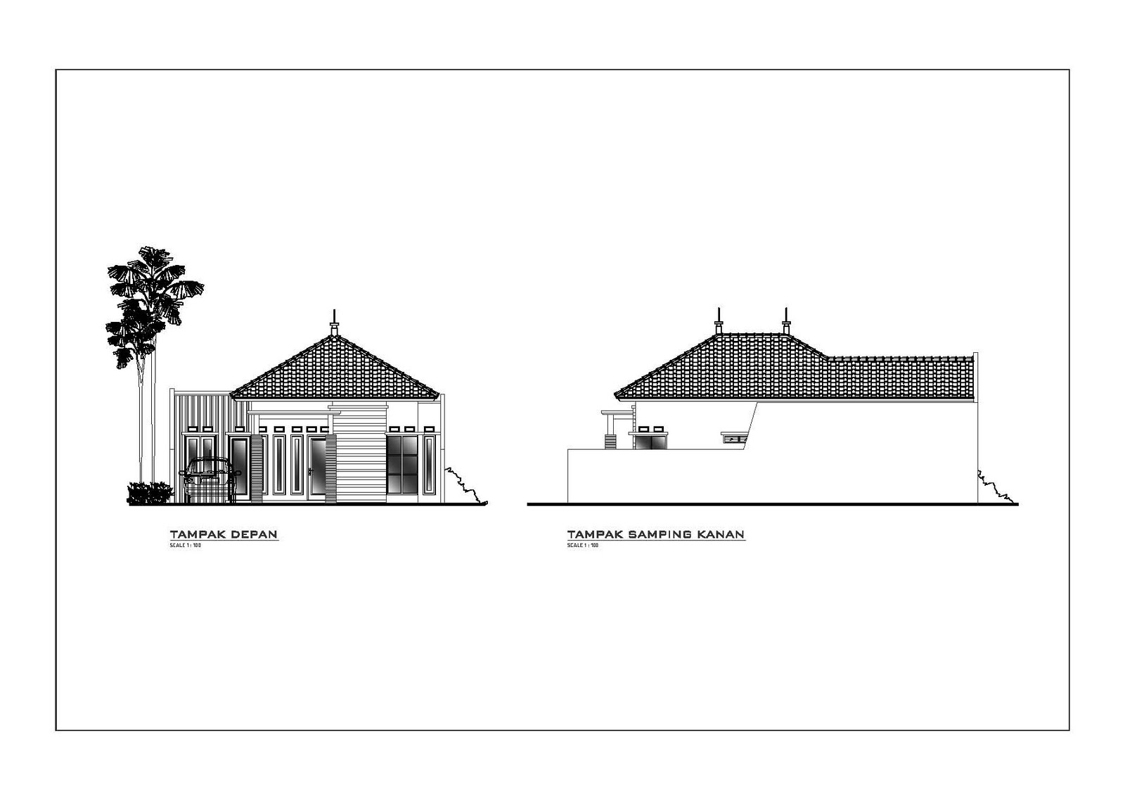 desain rumah minimalis 1 lantai berlokasi di bogor rumah