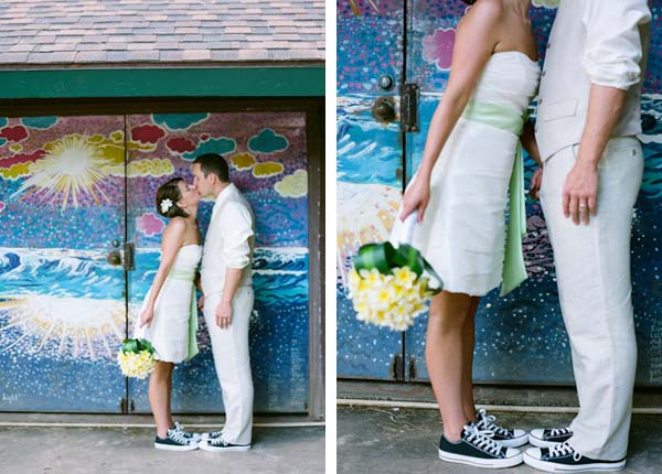 Prom dress and converse teal