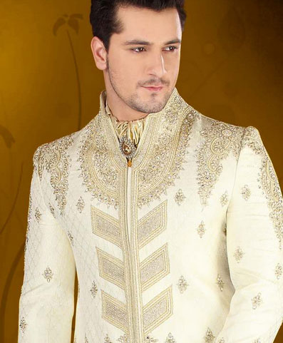 Wedding sherwani design for men's | Designer Dhoti Sharwani with
