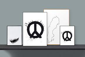 Konsttryck i svart och vitt