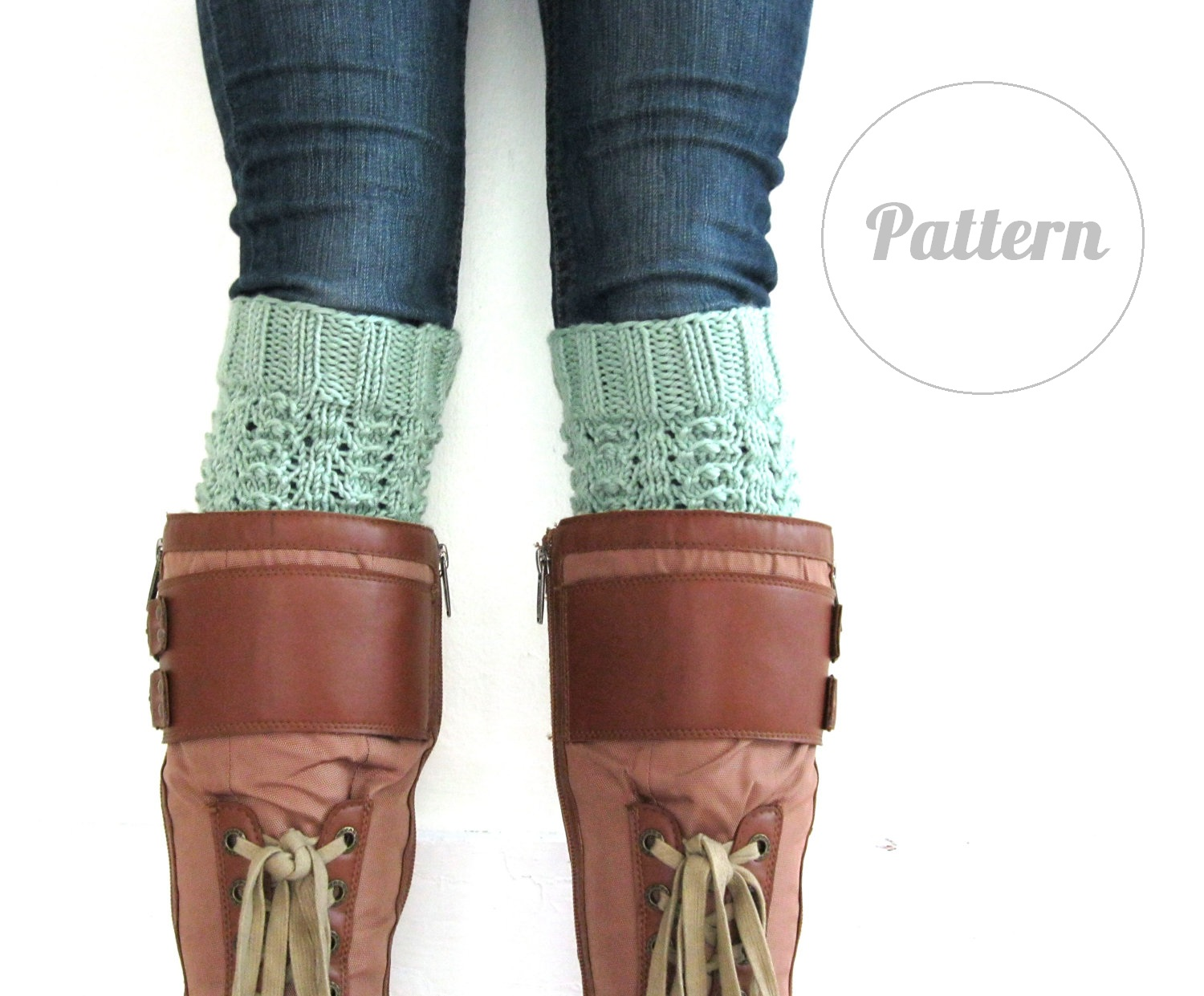 Funky Fresh Fraziers: Knitted Boot Cuff Pattern