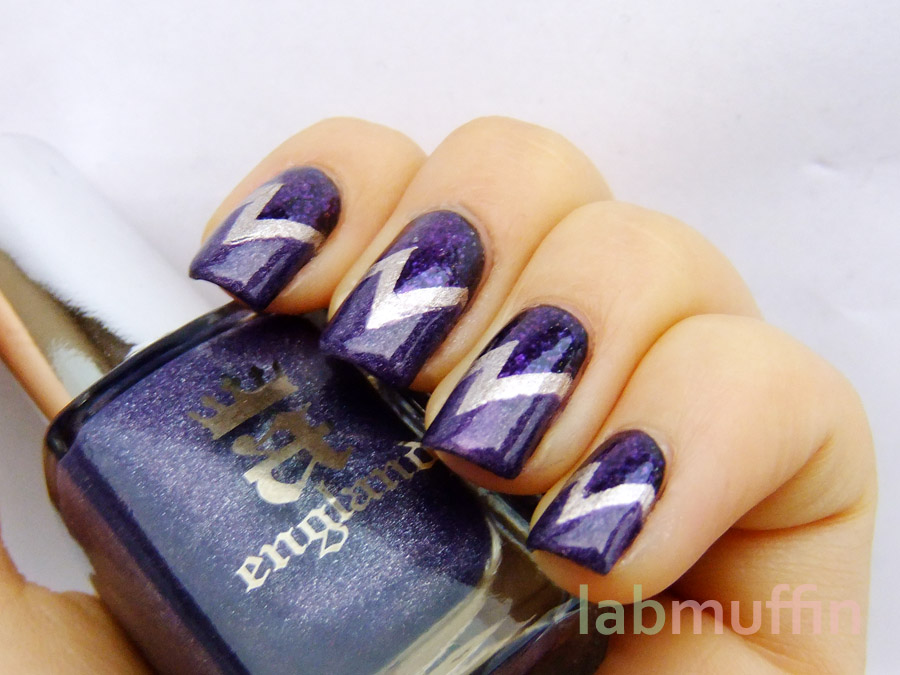 Purple Nail Art Designs 25