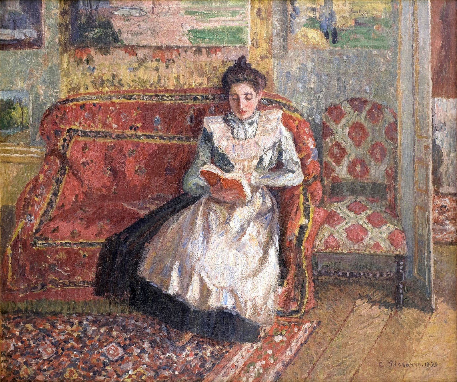 Reading and art camille pissarro for Camille pissarro oeuvre