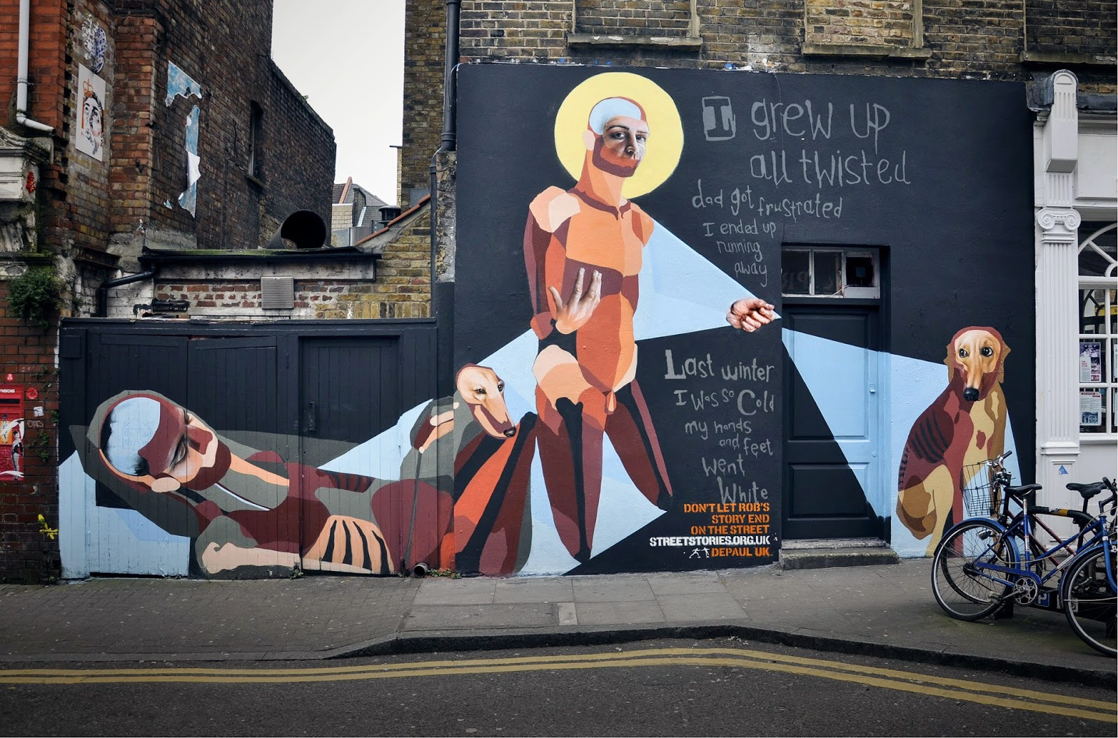 Back in Febuary, 5 artists created street art murals in and around East London telling the stories of various young homeless people as part of a campaign for charity Depaul.
