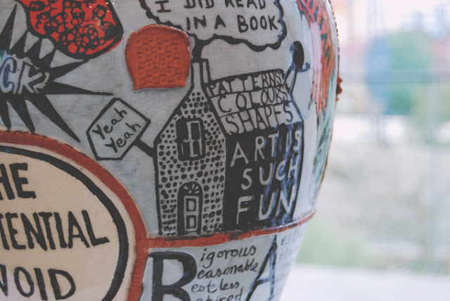 Close up of Grayson Perry pot