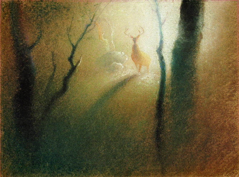 ilustraciones en colores pastel Tyrus Wong película Bambi