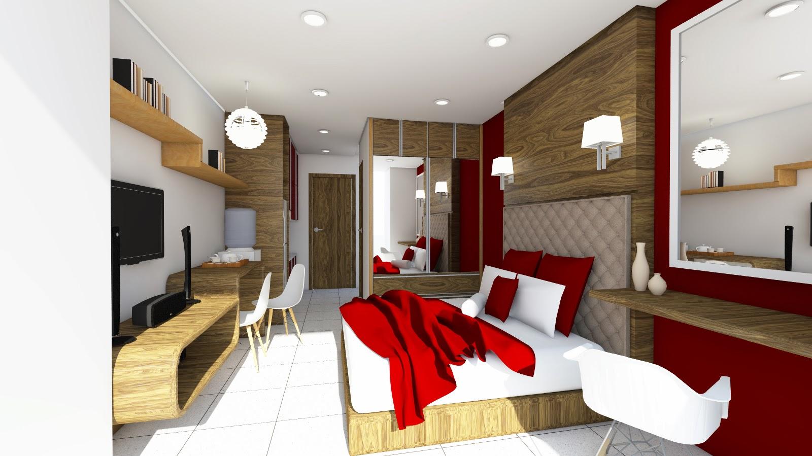 Desain interior apartemen taman sari semanggi tipe studio for Interior apartemen studio