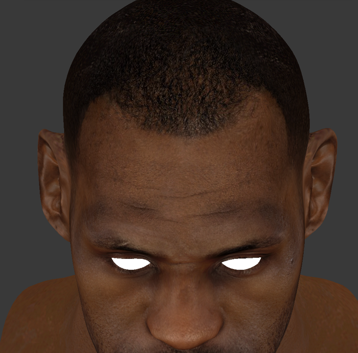 NBA 2K14 LeBron James HD Face Texture Mod