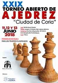 "XXIX TORNEO DE AJEDREZ ""CIUDAD DE CORIA"""