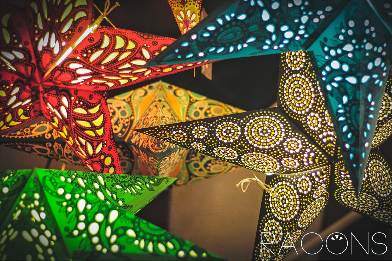 Llums amb forma d'estrelles La Carpa Girona