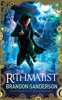 UK cover of The Rithmatist by Brandon Sanderson