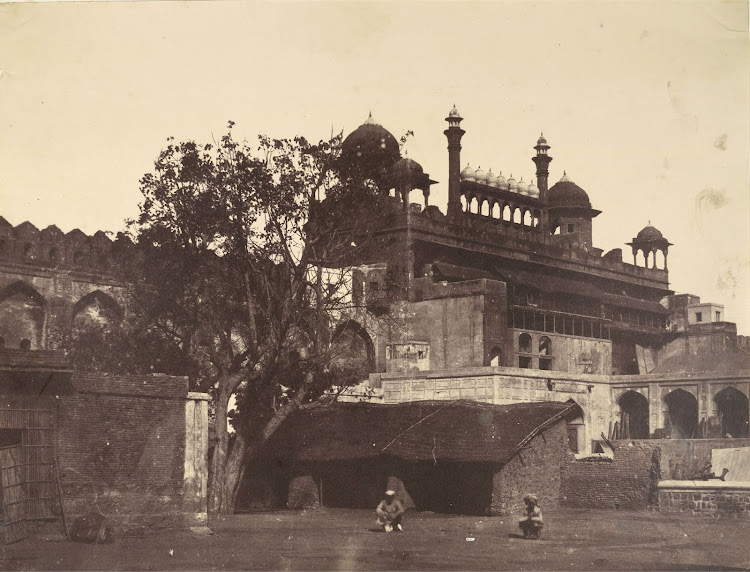 Interior view of the Lahore Gate of Palace, Delhi - 1858