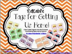 http://www.teacherspayteachers.com/Product/Editable-Bus-Tags-and-More-748997