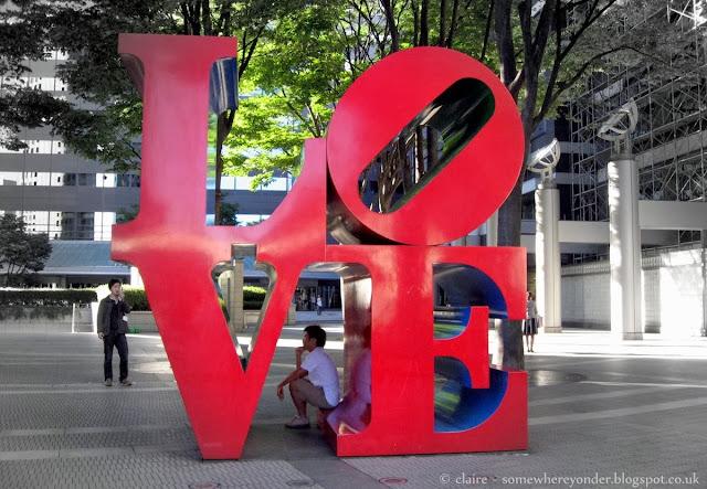 love art installation - Shinjuku, Japan 2006