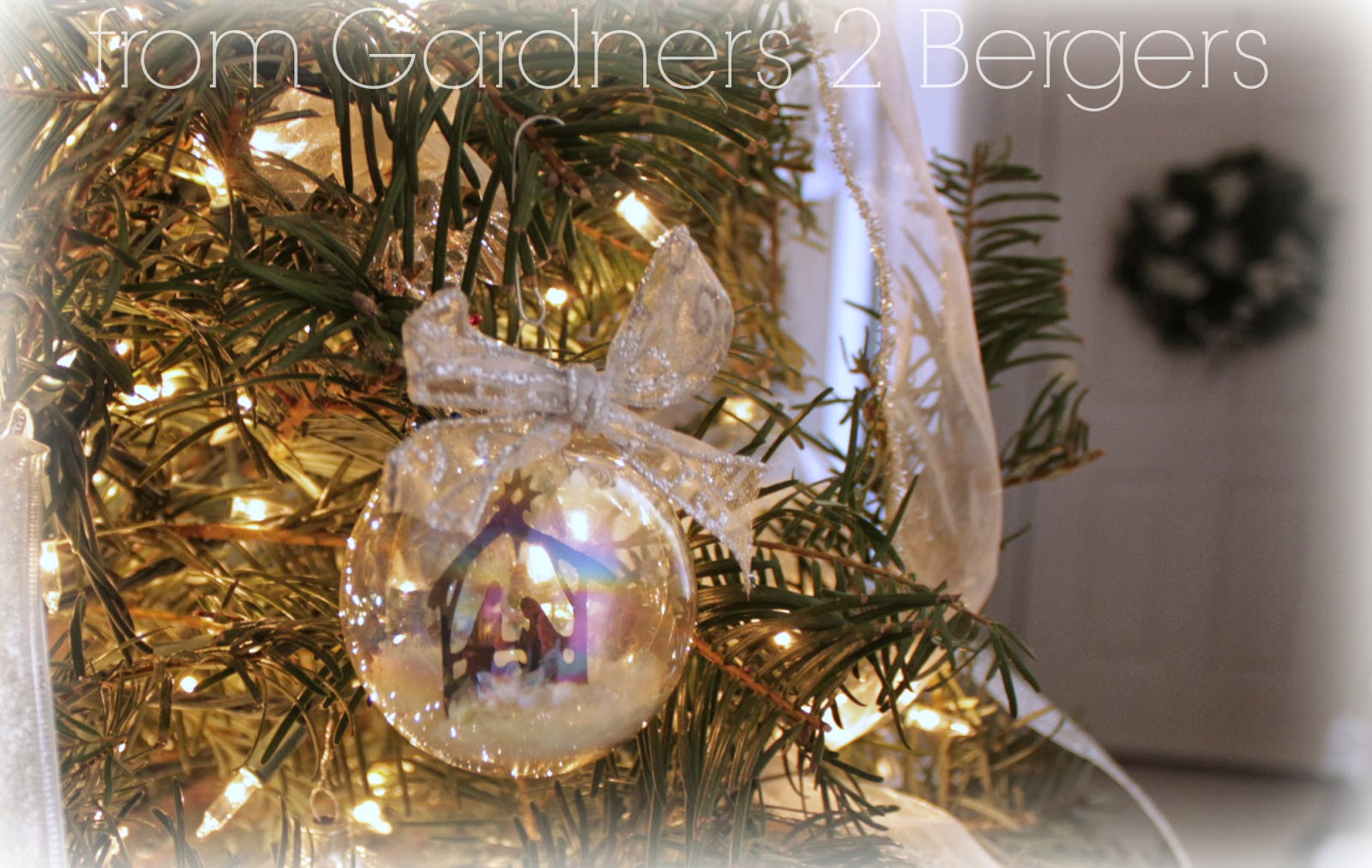from gardners 2 bergers diy nativity scene glass ornament
