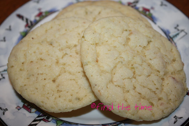 Find the Time: Chewy Coconut Lime Sugar Cookies
