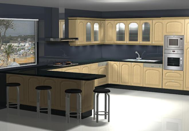 Diseño de cocina en madera
