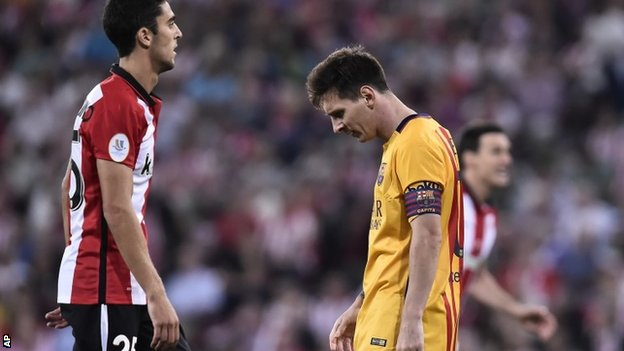Barcelona utterly humiliated by Athletic Bilbao as Luis Enrique's men show tiredness