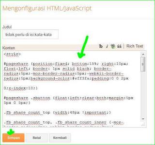 memasang menambahkan aplikasi ke dalam blog