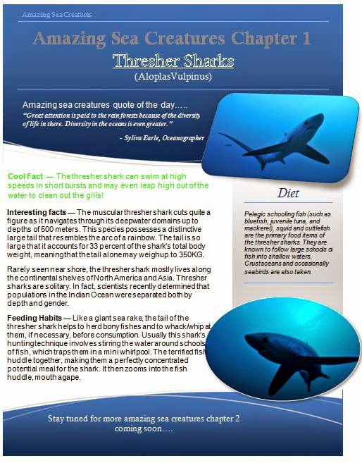 Amazing Sea Creatures Chapter 1 Thresher Shark