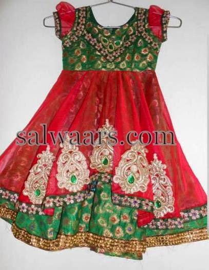 Stone Work Red Frock