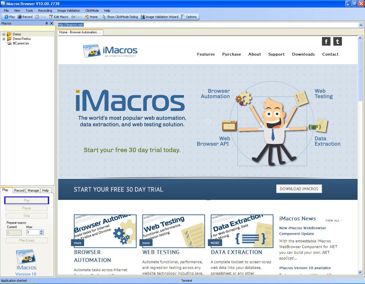 imacros click