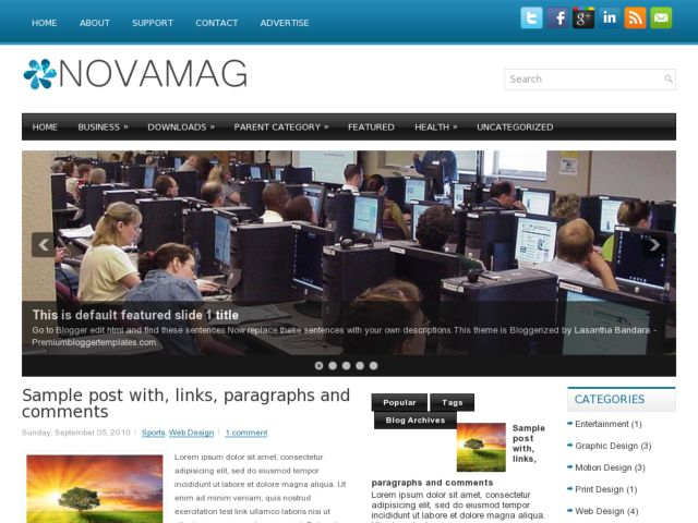NovaMag Blogger Template