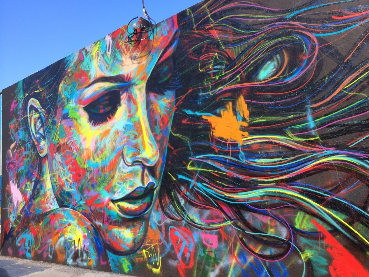 David walker new mural for art basel 39 13 miami usa for Contemporary mural art