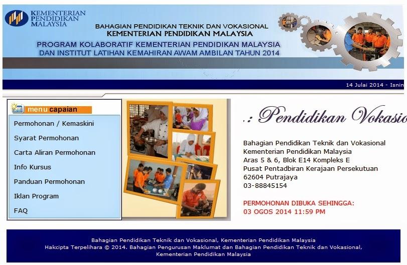 Permohonan Kemasukan Murid Tingkatan 3 2013 Bagi Program Kolaboratif KPM dan ILKA Ambilan Ogos 2014