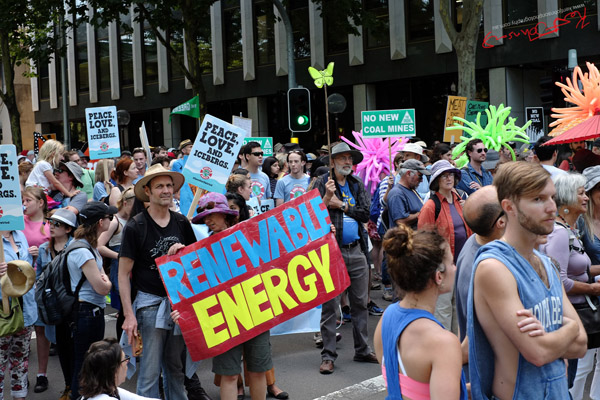 Renewable Energy, marching Macquarie Street - Sydney, Climate Change March, The Domain, Macquarie Street, Climate Change, Protest, #NoPlanetNoFuture, #PeoplesClimate, #PeoplesClimateMarch, #Sydney,