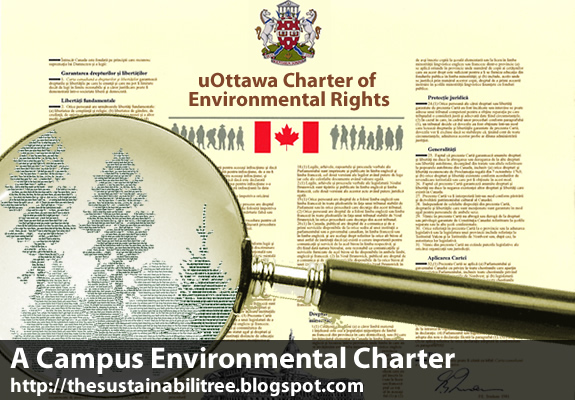 A charter document with a focus on green issues for the University of Ottawa