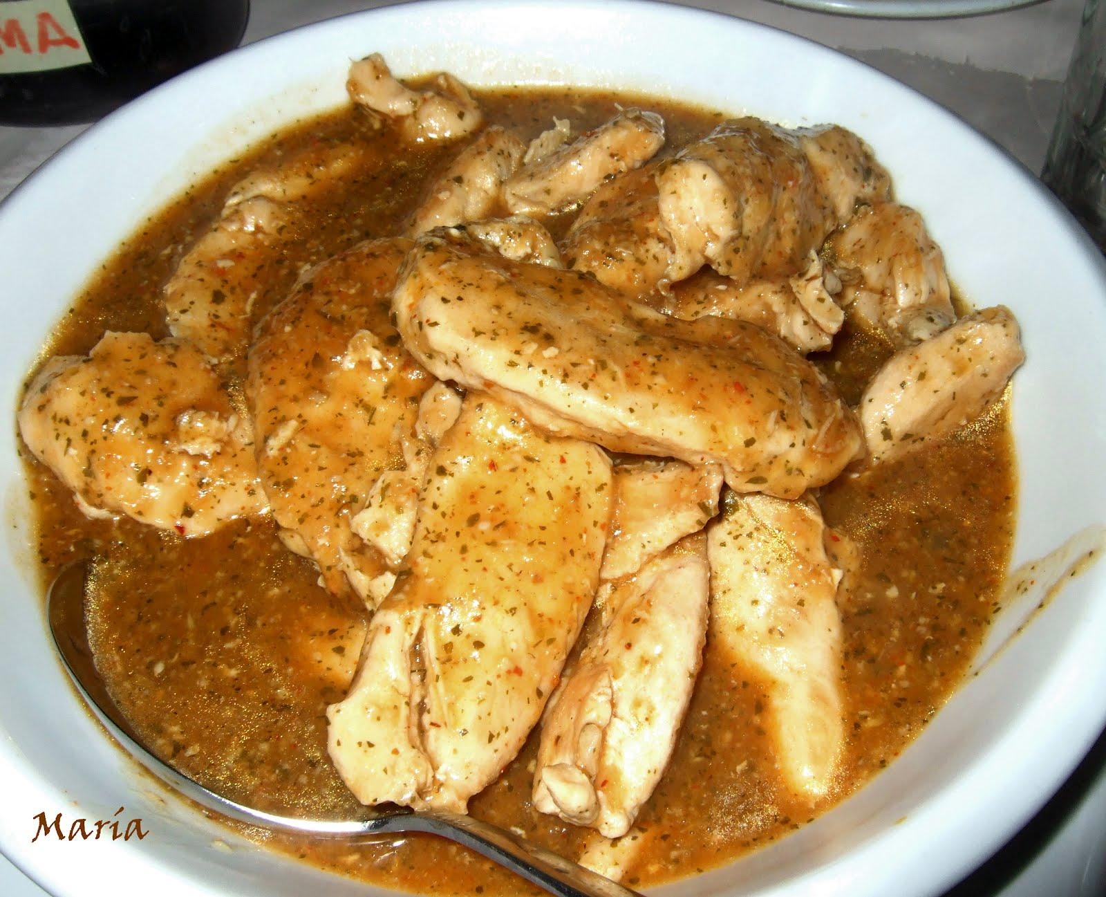 Para hincar el diente k m m k pechuga de pollo en salsa - Pechuga d pollo en salsa ...