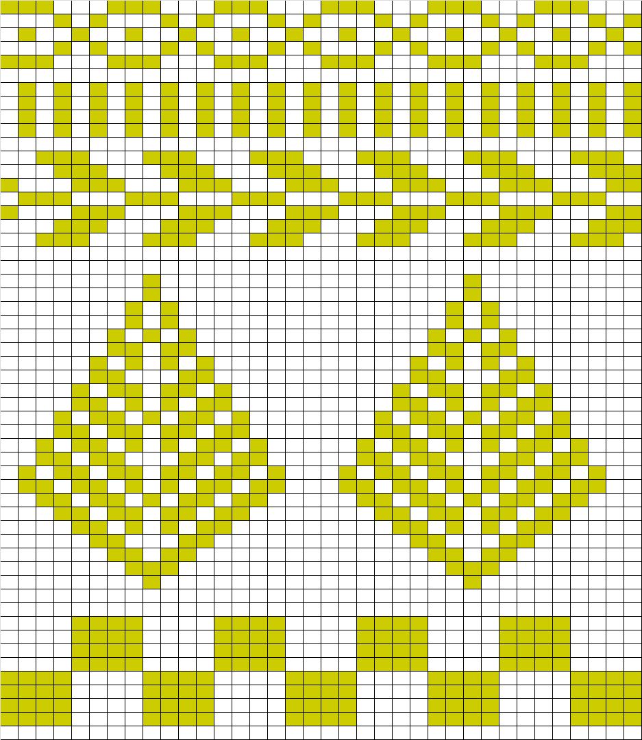 Christmas Tree Knitting Chart