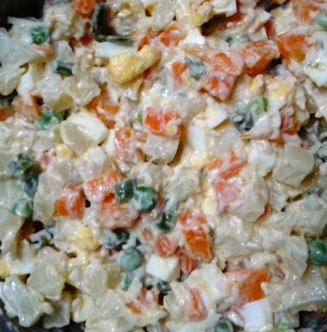 Russian salad or canape filling goan recipes n more for Easy canape fillings