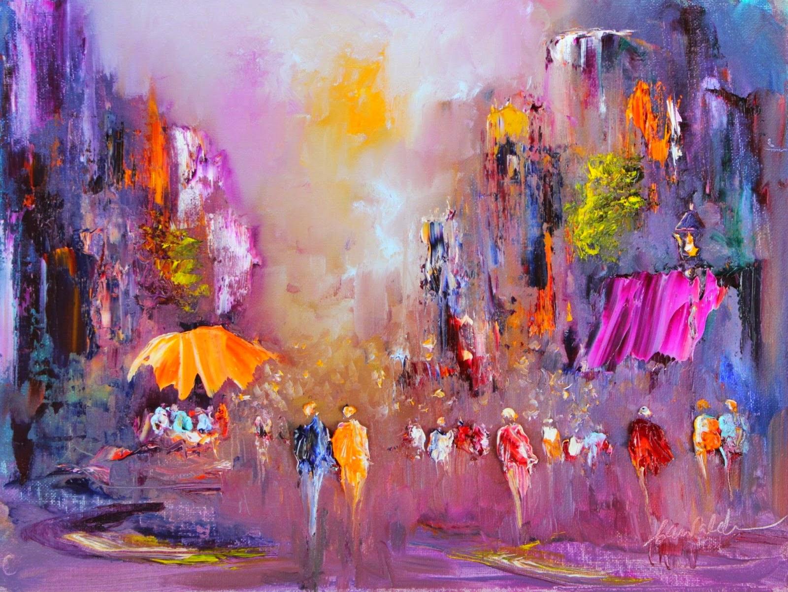 Por amor al arte pinturas abstractas de la artista carol - Fotos y cuadros ...